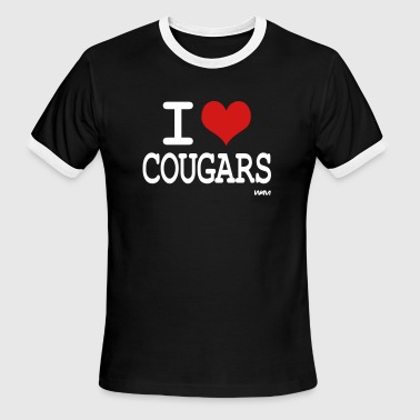 i love cougars by wam - Men's Ringer T-Shirt