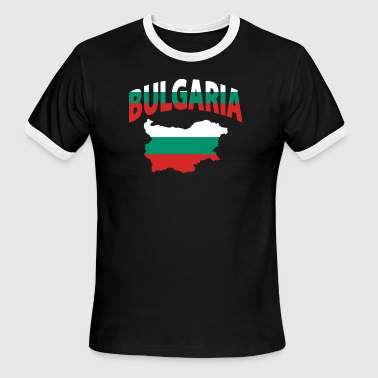 Bulgaria flag map - Men's Ringer T-Shirt