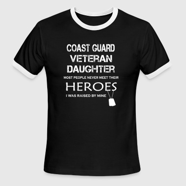 COAST GUARD VETERAN DAUGHTER Shirt - Men's Ringer T-Shirt