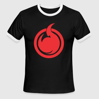 Hell Girl Hell Girl fire Symbol - Men's Ringer T-Shirt