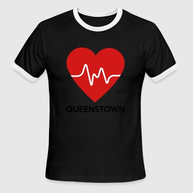 Heart Queenstown - Men's Ringer T-Shirt