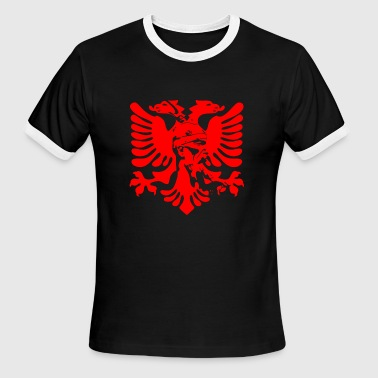 Albanian eagle with national hero Skanderbeg - Men's Ringer T-Shirt