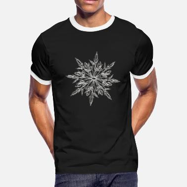 Ice Crystal Ice Crystal - Men's Ringer T-Shirt
