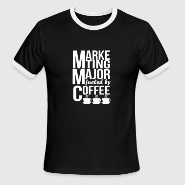 Marketing Major Marketing Major Fueled By Coffee - Men's Ringer T-Shirt