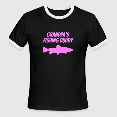 Grandpas Fishing Buddy Grandpa's Fishing Buddy - Men's Ringer T-Shirt