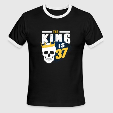 the king is 37 - Men's Ringer T-Shirt