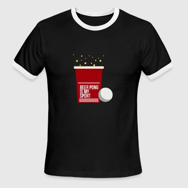 Beer Drinking game drinking beer - Men's Ringer T-Shirt