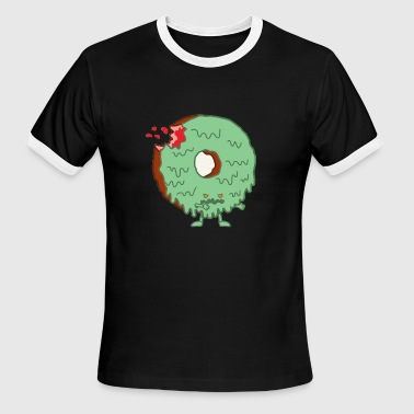 Donut Monster The Zombie Donut - Men's Ringer T-Shirt