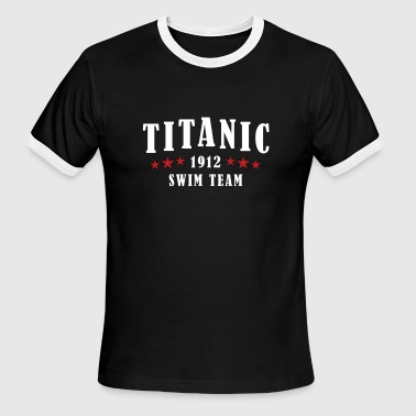 Titanic Swim Team - Men's Ringer T-Shirt