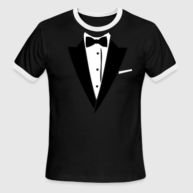 Suit Up Hilarious Tuxedo Shirt - Men's Ringer T-Shirt