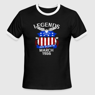Legends Are Born In March 1956 - Men's Ringer T-Shirt