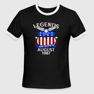 Legends Are Born In August 1987 - Men's Ringer T-Shirt