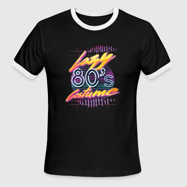 80s 1980s 80s Lazy 1980s Costume Funny 1980s Party Halloween - Men's Ringer T-Shirt