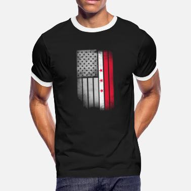 Washington District Of Columbia District of Columbia Flag - Men's Ringer T-Shirt