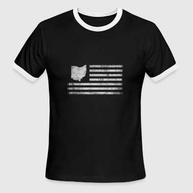 Ohio Is My Home Ohio State United States Flag Vintage USA - Men's Ringer T-Shirt