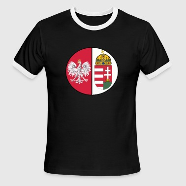 Polish hungarian mixed heritage national design - Men's Ringer T-Shirt