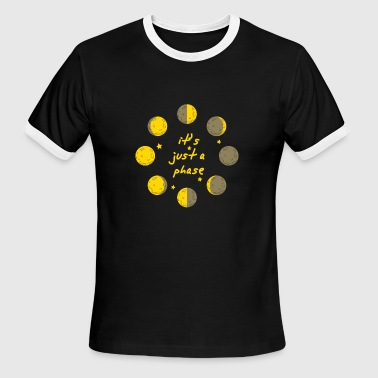 Astronomy Physics it's just a phase astronomy space physics galaxy - Men's Ringer T-Shirt