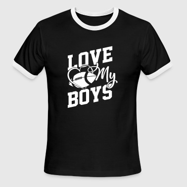I Love My Football Boy I love my Boys - Football Coach - Men's Ringer T-Shirt