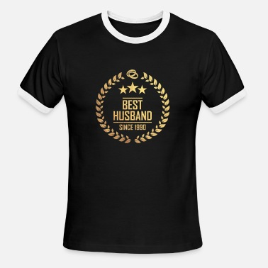 Since 1990 best husband since 1990 - Men's Ringer T-Shirt
