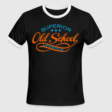 Old School Detroit old school  - Men's Ringer T-Shirt