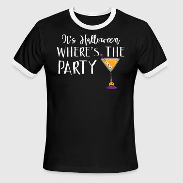Halloween Martini Where's The Party Martini Witches Brew Halloween Design - Men's Ringer T-Shirt