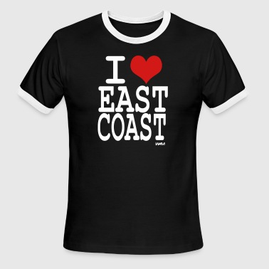 I-love-east-coast-by-wam i love east coast by wam - Men's Ringer T-Shirt
