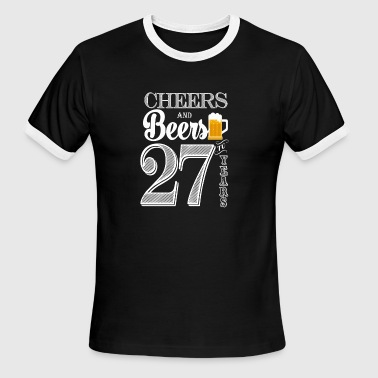 27 Years Cheers and Beers To 27 Years - Men's Ringer T-Shirt