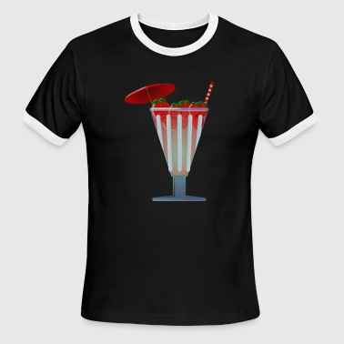 strawberry - Men's Ringer T-Shirt
