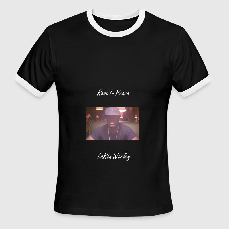 Men Rest In Peace LaRon Worley Shirts - Men's Ringer T-Shirt