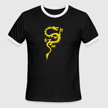 CHINESE DRAGON cool oriental asian kung fu - Men's Ringer T-Shirt