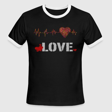 Heartbeat Love love heartbeat - Men's Ringer T-Shirt