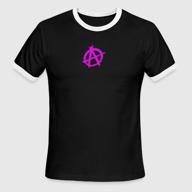 Anarchy Sign Anarchy Sign - Men's Ringer T-Shirt