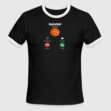 Basketball mobi shirt, Basketball shirt - Men's Ringer T-Shirt