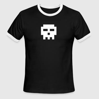 8-bit Skull - Men's Ringer T-Shirt