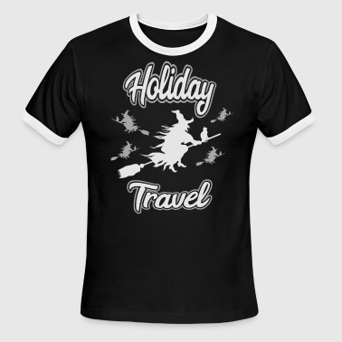 Holiday Travel Witch Halloween - Men's Ringer T-Shirt