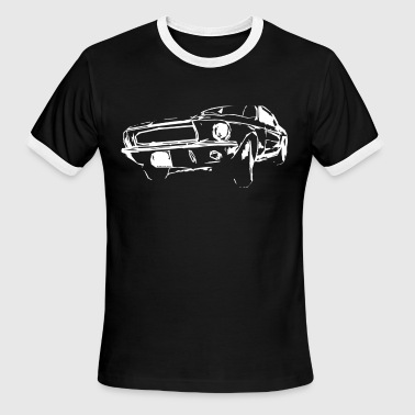 classic US car - Men's Ringer T-Shirt