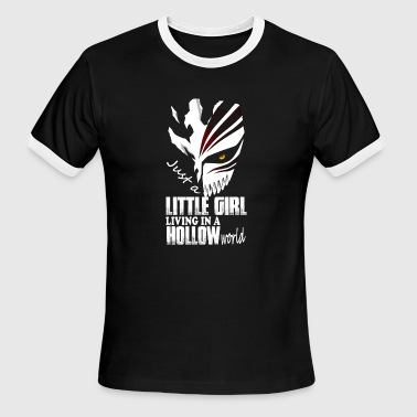 Rukia Bleach fan - Little girl living in a hollow worl - Men's Ringer T-Shirt