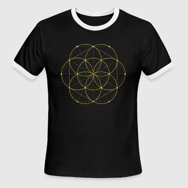 Golden Egg Golden Egg Of Life Sacred Geometry - Men's Ringer T-Shirt