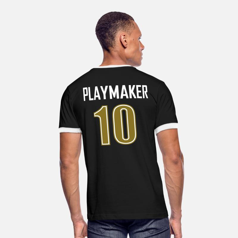 Soccer T-Shirts - playmaker t-shirt - Men's Ringer T-Shirt black/white