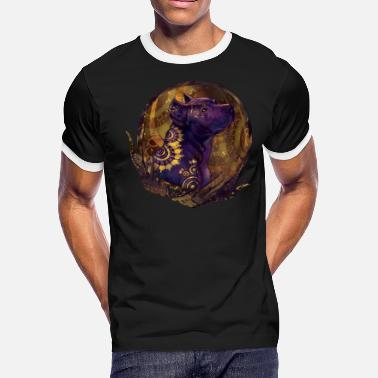Purple Flag Purple Pitbull - Men's Ringer T-Shirt