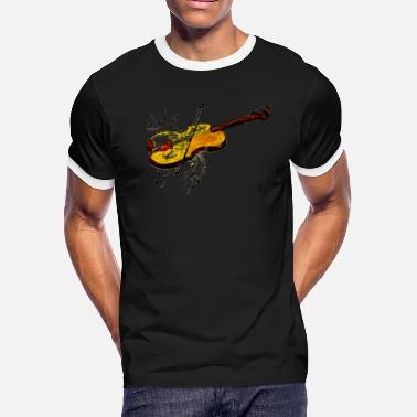 Violin with music notes - Men's Ringer T-Shirt
