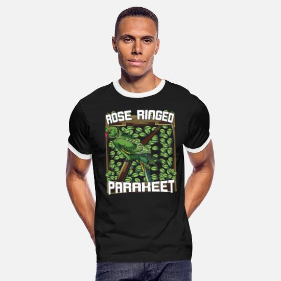 Nature T-Shirts - Parakeet - Men's Ringer T-Shirt black/white