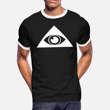 6958d5d53a05 All seeing eye pyramid - Men's Ringer T-Shirt