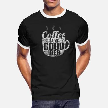 Caffeine Coffee Caffeine Gift Idea - Men's Ringer T-Shirt