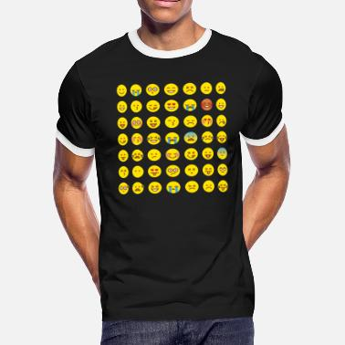 Emoticon Emoticons - Men's Ringer T-Shirt
