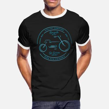 Bicycle lovers, cyclist forever, ride eco-friendly - Men's Ringer T-Shirt