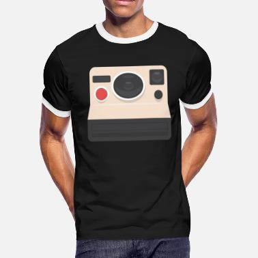 Daughters Photographer Polaroid Camera Funny Gift Idea - Men's Ringer T-Shirt