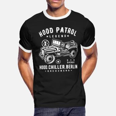 Hood Patrol Jeep Hood Chiller Berlin - Men's Ringer T-Shirt