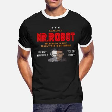 Mr Robot Mr ROBOT - Men's Ringer T-Shirt