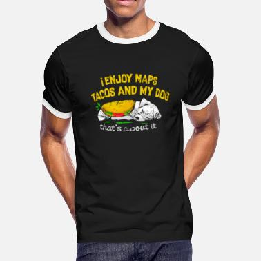 a1547916 Naps, tacos and dogs for dog lover - Men's Ringer T